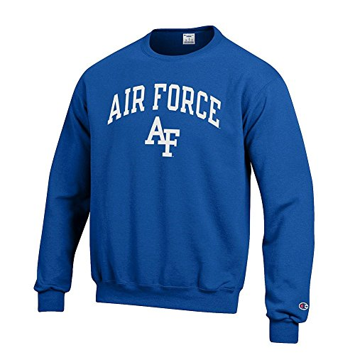 Elite Fan Shop NCAA Air Force Falcons Men's Team Color Crewneck Sweatshirt, Royal, - Force Sweatshirt Crewneck Air