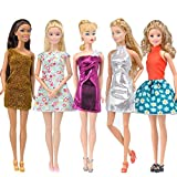 E-TING Princess Doll Clothes (5-Piece Set) For Barbie– Fashionable Dresses and Outfits mini dresses for Girl Toys – Vintage Fashion, Styles and Patterns