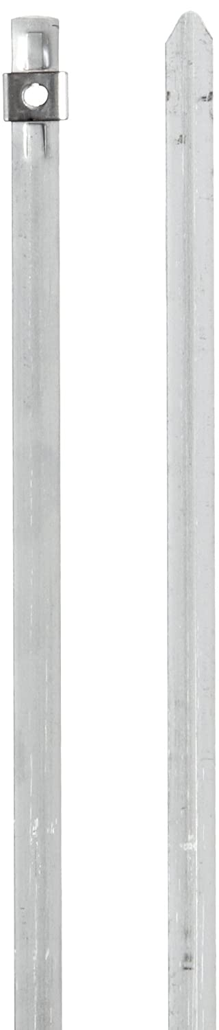 Image of BAND-IT AS2119 304 Stainless Steel Cable Tie, 1/4' Width, 10' Length, 2' Maximum Diameter, Bag of 100 Cable Ties