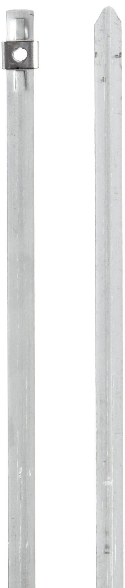 BAND-IT AS2119 304 Stainless Steel Cable Tie, 1/4'' Width, 10'' Length, 2'' Maximum Diameter, Bag of 100