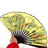 GLYBYCA Handheld Fan, with Bamboo and gteatwall