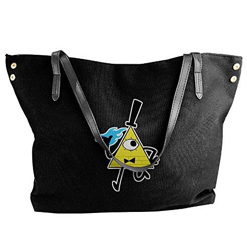 Mabel Sweater Costume (Bill Cipher Walking Gravity Falls Ladies Canvas Handle Single Shoulder Bag/Handbag)