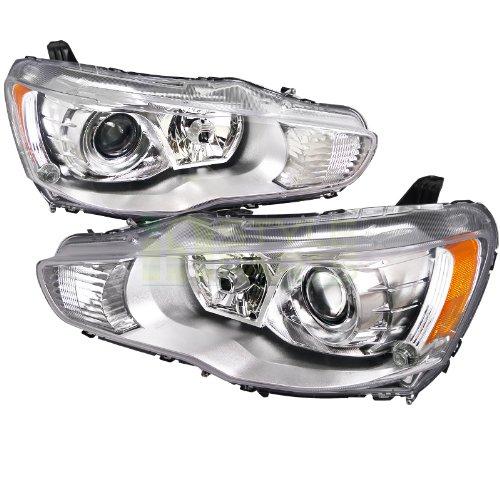 2008-2012 Mitsubishi Lancer Projector Headlight Chrome Housing