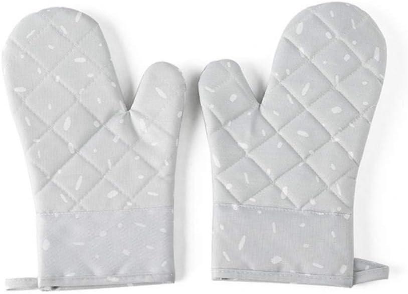 FORHOME 1 Paire Cuisine Micro-ondes Gant Coton Anti-d/érapant Four De Cuisson Gants De Four R/ésistant /À La Chaleur Cuisine Maniques Mitaines Houshold Bleu