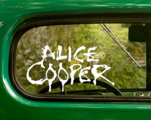 2 ALICE COOPER Decal Rock Band Stickers White Die Cut For Window Car Jeep 4x4 Truck Laptop Bumper Rv
