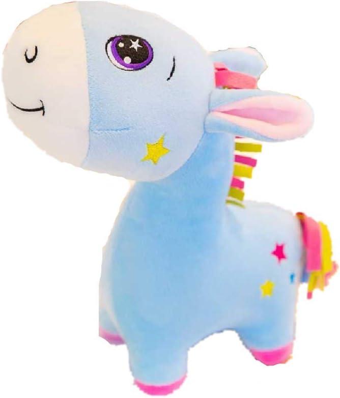 DUNDUNGUOJI Muñeco de Peluche Algodón De Azúcar Burro Felpa Juguetes Muñecas Infantiles 40cm/Azul.: Amazon.es: Juguetes y juegos