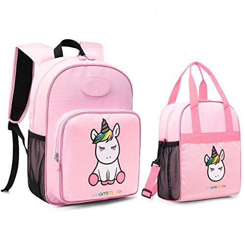 [해외]mommore 귀여운 유니콘 아동용 백팩 단열 도시락 가방 남아여아용) MM0240012A012-FUK / mommore Cute Unicorn Kids Backpack with Insulated Lunch Bag for BoysGirls, Pink