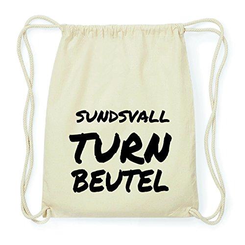 JOllify SUNDSVALL Hipster Turnbeutel Tasche Rucksack aus Baumwolle - Farbe: natur Design: Turnbeutel