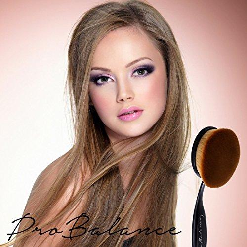 New Pro Balance Black Soft Hair Oval Makeup Brush Sets 10 Pcs Smooth Cosmetics Toothbrush Brushes Foundation Eyeshadow Eyeliner Lip Contour Kit Cream Blush Concealer (10 Pcs Premium, Black)