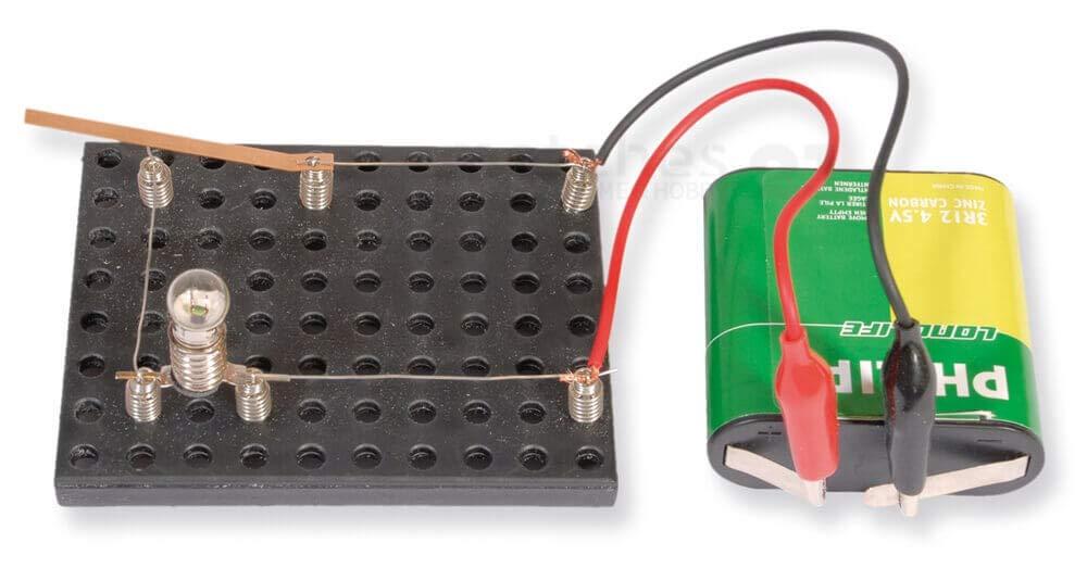 Kinder Werkset Bastelset Lernspiel ab 9 Jahren matches21 Einfacher Stromkreis Strom Energie entdecken Bausatz f
