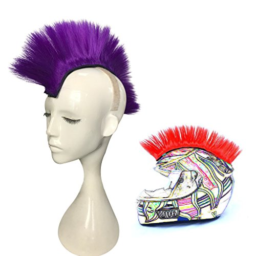 Price comparison product image Namecute Skinhead Wig Purple Helmet Mohawk Wig Costumes Hairpiece