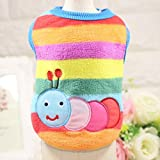 Puppy Clothes, Pet Dog Cat Fleece Sweater Winter Warm Sweatshirt Shirt Doggy Coat Soft Pet Cat Coats (L, Multicolour)