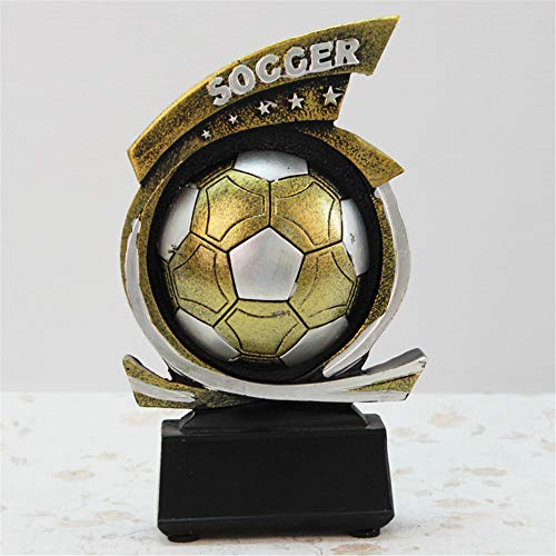 - XiYunHan Movement Resin Crafts Series Decoration Retro Football Game Commemorate Geometric Type Bracket Environmental Protection Resin Sculpture Product Home Living Room Desktop Display Stand