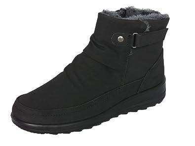 Women's Faux Suede Fur Lined Boots Ladies Snug Warm Fashion Ankle Boots  Size 3-8