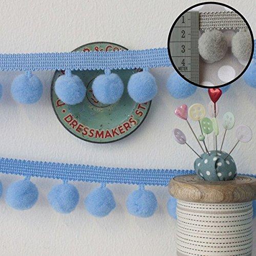Frumble Fabrics Jumbo Pom Pom Trim Baby Blue
