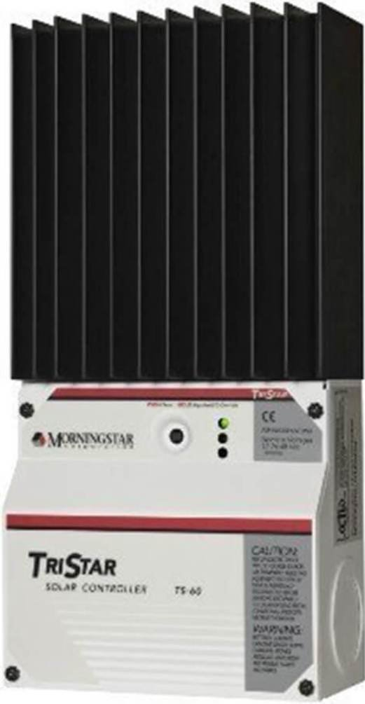 Morningstar TS-60 TriStar 60 Amp 24-60V PWM Solar Controller, Ratings to 60A at 48VDC Communications Capability, Fully Adjustable, Extensive Electronic Protections, Programmable Lighting Control