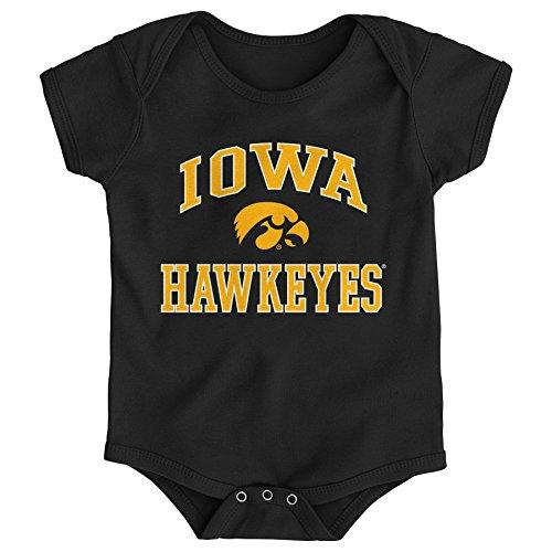 Iowa Hawkeyes Ncaa (Gen 2 NCAA Iowa Hawkeyes Newborn & Infant Primary Logo Bodysuit, 24 Months, Black)