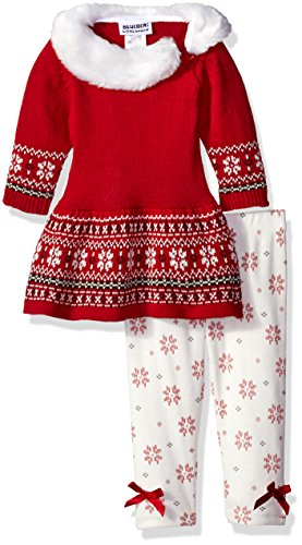 Fair Legging Isle (Blueberi Boulevard Baby Girls' Sweater Printed Legging Set, Fair Isle Multi, 12 Months)