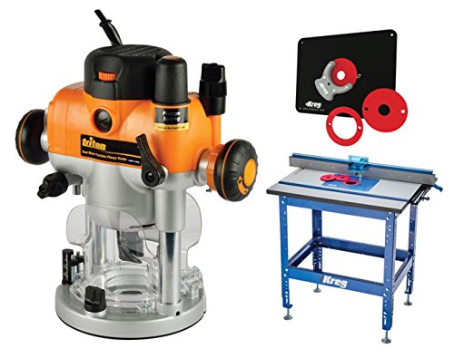 Plunge Router Reviews (Kreg PRS1045 Router Table, Triton TRA001 W/3-1/4hp Plunge Router & Insert Plate)
