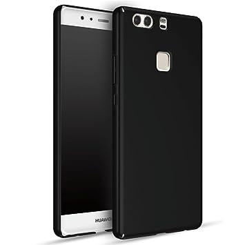 Huawei P9 Plus Carcasa, Panphy Alta calidad Ultra Slim Hard sedoso Scrub Shell plena protección trasera piel siento cover para Huawei P9 Plus Negro