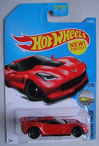 Corvette Z06 Wheels - Hot Wheels 2017 Factory Fresh Corvette C7 Z06 217/365, Red