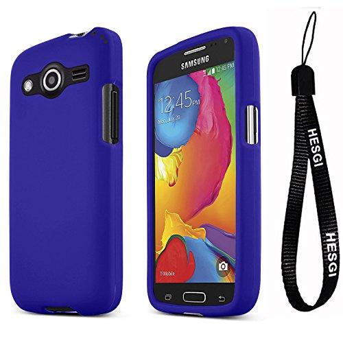 HESGI Galaxy Avant Case [Dark Blue] Slim Grip Rubberized Hard Plastic Case for Samsung Galaxy Avant (2014)