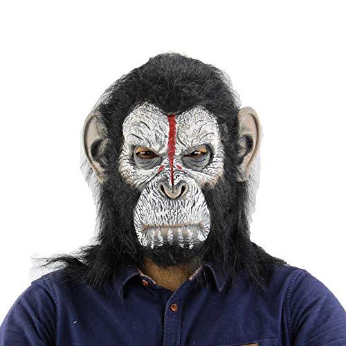 LXIANGP Latex Mask Man Taro Orangutan Halloween Costume Prom Funny Animal Horror Mask