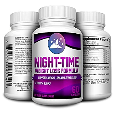 Night-Time Weight Loss Pills / Nighttime Fat Burner Supplement 60 capsules(2 month supply)