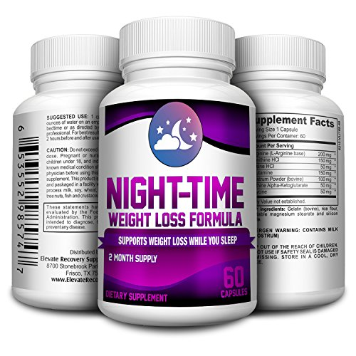 - 2-Month Nighttime Weight Loss Pills - Supplements - Night Time Fat Burner Supplement - 60 Capsules