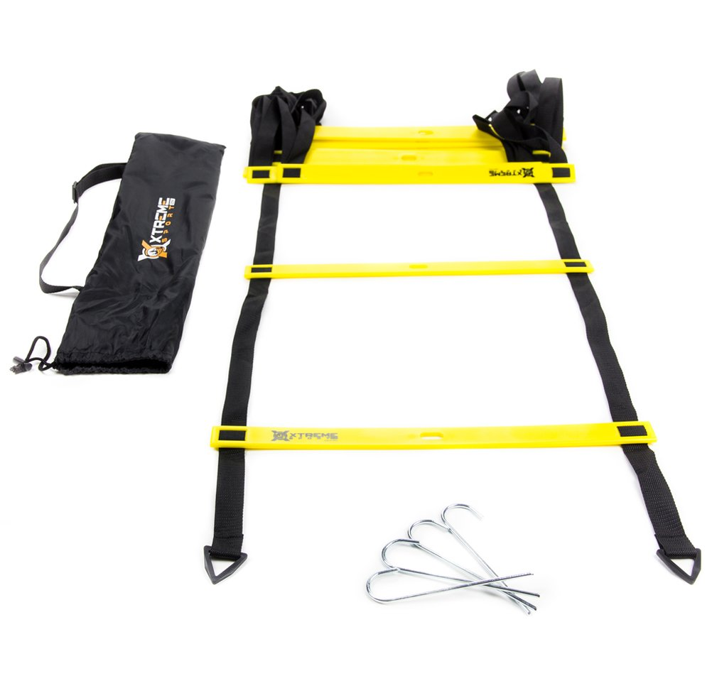 Premium Agility Speed Ladder - 13' Long with 12 Adjustable Rungs, Ideal for Soccer/Football, Basketball, Hockey, Speed Training, Kids, Coaches and All Sports. Convenient Carry/Storage Bag Included. by Xtreme Sport DV (Image #2)