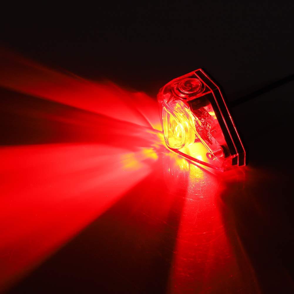 L/ámpara LED de Bicicleta el/éctrica Scooter de Bicicleta el/éctrica Universal Luz de Seguridad de Cola Trasera L/ámpara de Freno de Advertencia Accesorio de Bricolaje