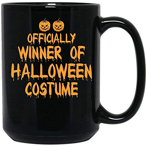 Coffee Mug Officially Winner Of Halloween Costume Funny Coffee Mug Ceramic (Black, 15 OZ) -