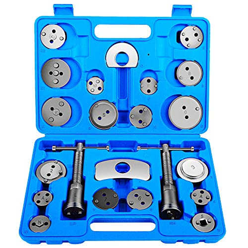OrionMotorTech 22pcs Heavy Duty Disc Brake Piston Caliper Compressor Tool Set and Wind Back Kit for Brake Pad Replacement, Fits Most American, European, Japanese (Disc Brake Piston Spreader)
