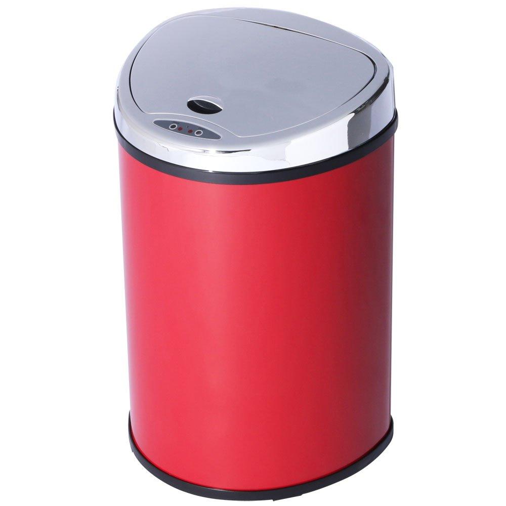 アイリスプラザ ゴミ箱 自動 開閉 センサー付 48L レッド