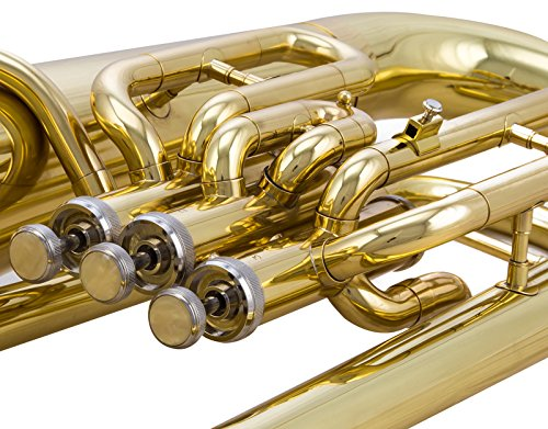 Glory GEU31 ,Gold Finish, 3key Bb flat Euphonium with Stainless Steel Pistons,Click to see more Style