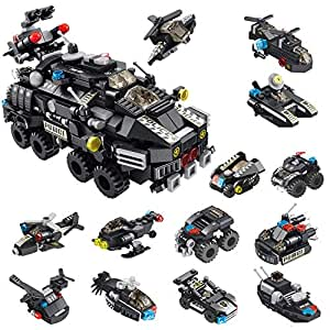 City Police armored Vehicles Building Toy kit 12in1