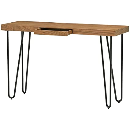 Foyer Entry Console Table For Entryway Decor With Drawer Simple Modern  Contemporary Industrial Vanity Desk Midcentury