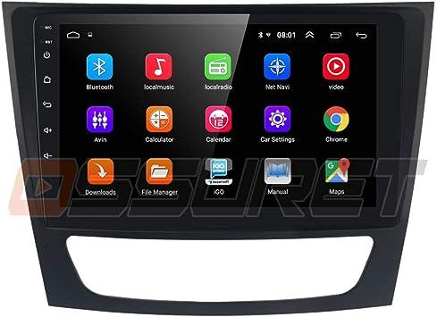Android 10 9 Pulgadas 2 DIN 2 + 16 GB Radio de Coche Navegador GPS Compatible con Mercedes Benz Clase E Clase CLK Clase CLS Clase Bluetooth 4.0 CANBUS SWC Radio WiFi 4G USB Mirrorlink: Amazon.es: Electrónica