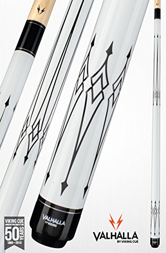 Viking Valhalla by 2 Piece Pool Cue Stick Black and White Tribal Design Billiards Cue VA221 (20oz, White) by Valhalla