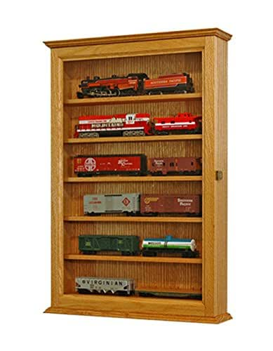 Amazon.com: Model Train Display Case Oak Wall Cabinet-HO