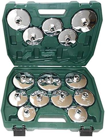 Chiavi SMONTA Filtro Olio Set 15 Chiave CROMATE Tazza Universale X SMONTAGGIO
