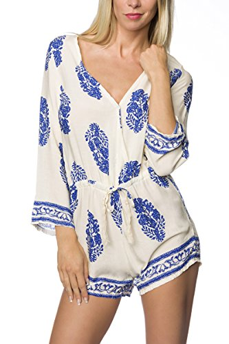 Angies Bleu beige Femme Glamour Salopette Fashion BwqUZxBC