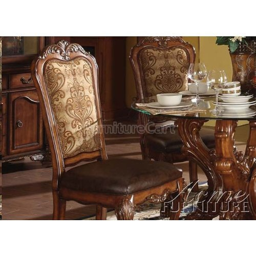 (acme 60012 Dresden Side Chair, Cherry Oak Finish, Set of 2)