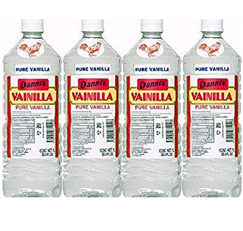 - 4 X Danncy Clear Pure Mexican Vanilla Extract From Mexico 33oz Each 4 Plastic Bottle Lot Sealed