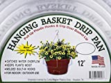 "Curtis Wagner 12"" Clear Hanging Basket Drip Pan Saucer (10-Pack)"