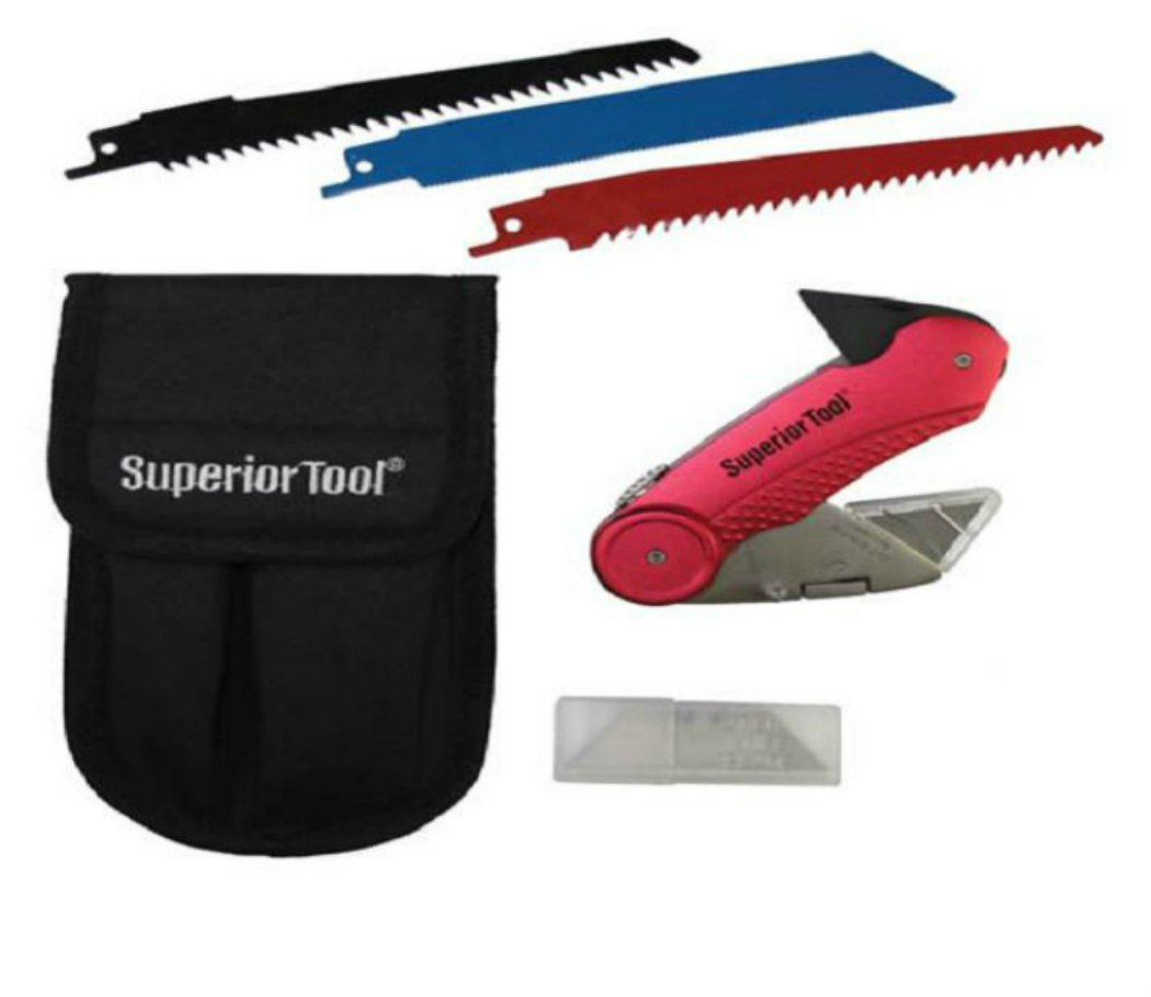 Superior Tool 37519 Plumber's Knife Kit Combination Multi-Tool, Stainless Steel