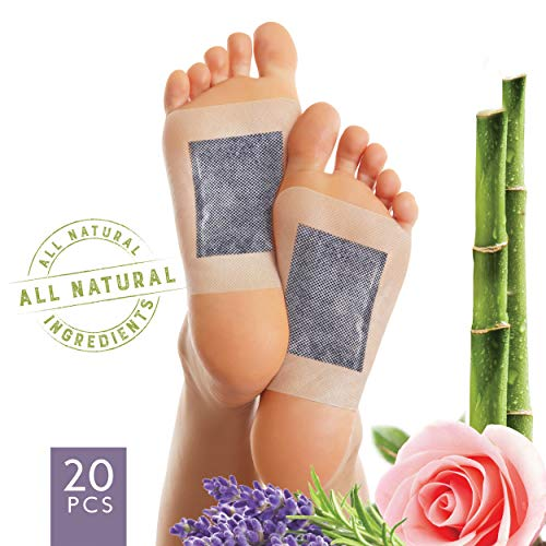 Foot Pads by Crescena | Premium Natural Foot Patches | Pain Relief | Improve Circulation & Cognitive Relaxation - 100% Organic | FDA Certified | 20ct. from Crescena