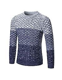 WILLTOO Men's Fall Winter Sweater Pullover Slim Jumper Knitwear Outwear Blouse