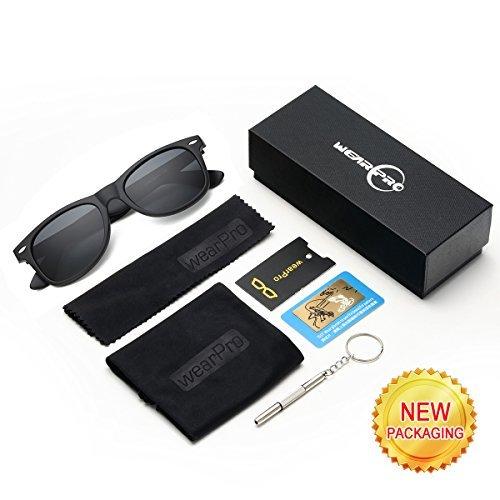 14f466b6d4 Amazon.com  Mens Sunglasses for Men -wearpro Retro Vintage Polarized  Sunglasses WP1001(A Matte Black2