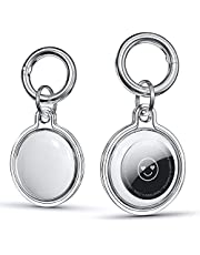[2 Pack] Benazcap Clear Case for AirTag Finder with Keychain, Compatible with AirTag Key Ring Holder, Full Body Protective Tracker Cover Skin for Car AirPods Device, Air Tag Case with Key Chain, HD